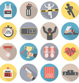 Flat Design Run Icon Set vector image