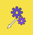 flat icon design collection two gears vector image vector image