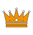 flat line crown design vector image vector image
