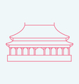 Forbidden City vector image vector image