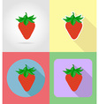 fruits flat icons 14 vector image vector image
