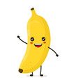 funny happy cute happy smiling banana vector image vector image