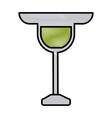 glass cup symbol vector image vector image