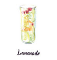 glass lemonade vector image vector image