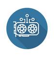 gpu mining icon vector image vector image