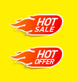 hot sale and hot offer labels stickers special vector image vector image