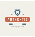 Lion head Design Element in Vintage Style for vector image vector image