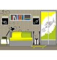 living room interior loft vector image vector image