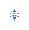 meditation pose line icon concept meditation pose vector image