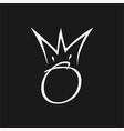 o king asbtract vector image