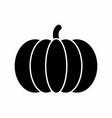 pumpkin dark silhouette vector image