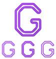 Purple line g logo design set vector image vector image