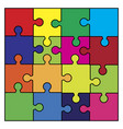 puzzle set symbol icon design vector image
