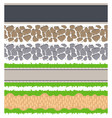 seamless border roads and track tileable vector image vector image