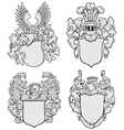 set of aristocratic emblems No3 vector image vector image