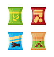 set of different snacks - salty chips cracker vector image vector image