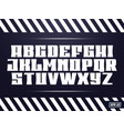 sport font alphabet with latin letters vector image