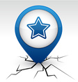 Star blue icon in crack vector image vector image