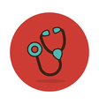 Stethoscope flat icon Medical vector image