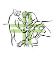 surgeons operation on patient vector image vector image