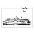 tower of london architectural symbol beautiful vector image