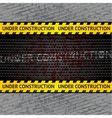 under construction background template vector image vector image