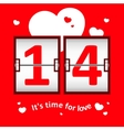 Valentines day date scoreboard vector image vector image