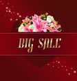 Valentines on sale background with flower bouquet vector image vector image
