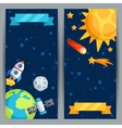 Vertical banners with solar system and planets vector image