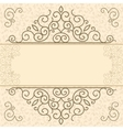 Vintage card with space for text vector image