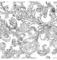 vintage flora and leafage foliage monochrome vector image vector image