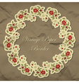 Vintage floral paper border vector image vector image