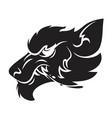 werewolf head emblem vector image vector image