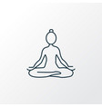 yoga icon line symbol premium quality isolated vector image