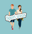 young beautiful couple in sport style vector image vector image
