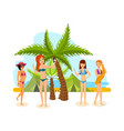 young woman in bikini sunbathe in the summer vector image