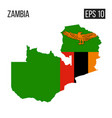 zambia map border with flag eps10 vector image vector image