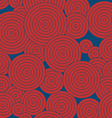 Red round pattern on blue background vertical vector image