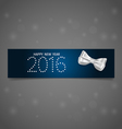 2016 Happy New Year background vector image vector image