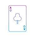 ace of clover or clubs french playing cards vector image