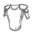armor muslim history icon doodle hand drawn vector image