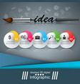 artist business infographic brush vector image