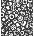 Auto Car Spare Parts Seamless Pattern on Dark vector image