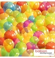 background with multicolored transparent balloons vector image