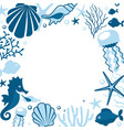 background withwith marine animals vector image vector image