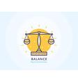 Balance Icon vector image vector image