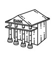bank icon doodle hand drawn or outline icon style vector image vector image