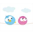 bird flirt vector image vector image