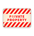 bright glossy red and white metal plate private vector image