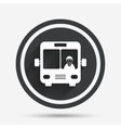 Bus sign icon Public transport symbol vector image vector image
